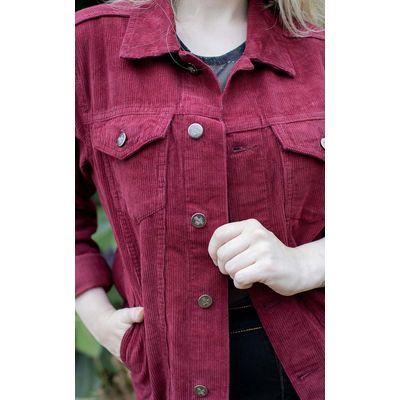 Foto van Run & Fly | Ribcord jas 60s Indie Western, rood