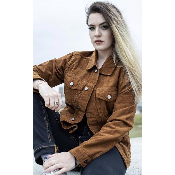 Run & Fly | Ribcord jas 60s Western Trucker, tan brown