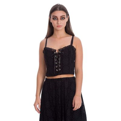 Banned | Gothic corset top Evie Tie