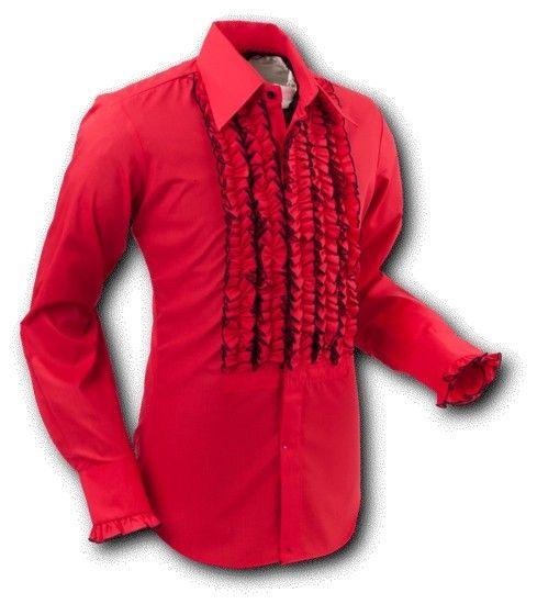 Chenaski | Overhemd ruche, red black trim
