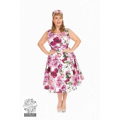 Foto van Hearts & Roses | Alice Queensize, swing jurk met roze rozen
