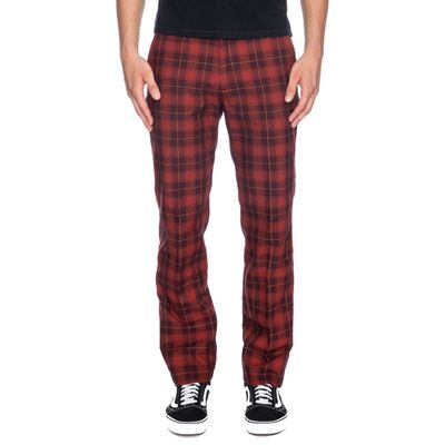 Foto van Ato Berlin, pantalon Jorjo rood met zwart geruit