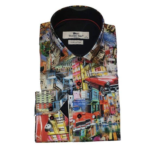 Claudio Lugli, overhemd met jaren 50 Dream car print