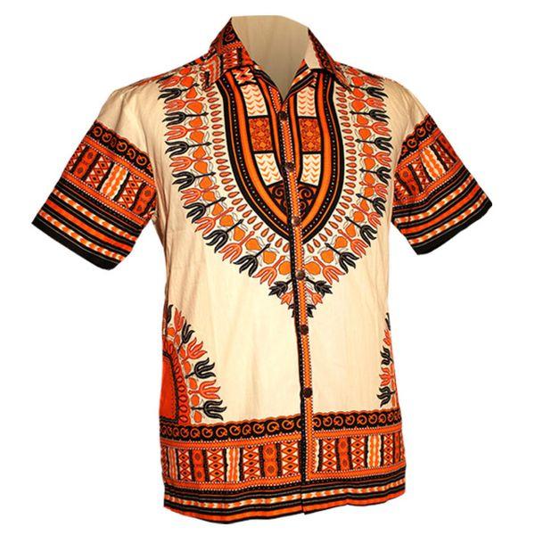 Chenaski | Overhemd korte mouw, Dashiki creme