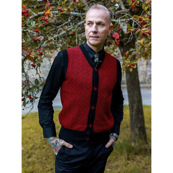 Collectif   Bordeaux gebreid vest Lex Kentish