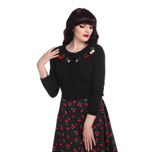 Cardigan Jessie, Charming Cherry, zwart