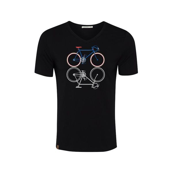 Green Bomb   T-shirt zwart Bike Shape, bio katoen
