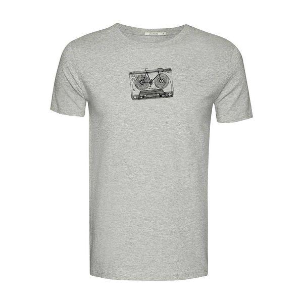 Green Bomb | T-shirt Lifestyle Bike Tape, heather grey bio katoen