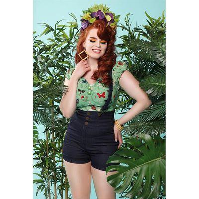 Foto van Collectif | Top Dolores Butterfly groen