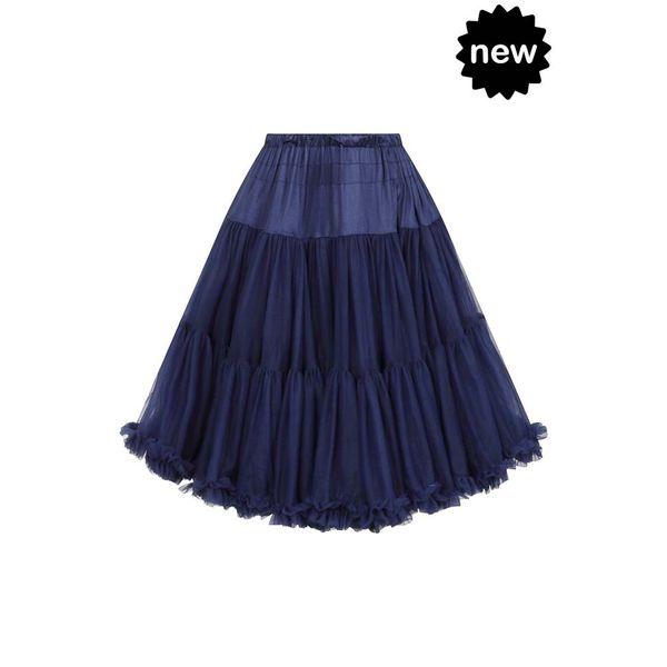 Banned | Petticoat Lifeforms, kuitlang met extra volume, night blue