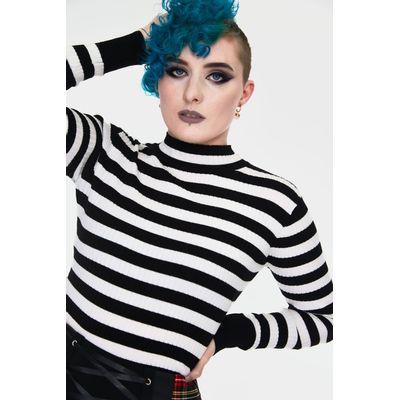 Foto van Jawbreaker | Trui Menace wit zwart gestreept