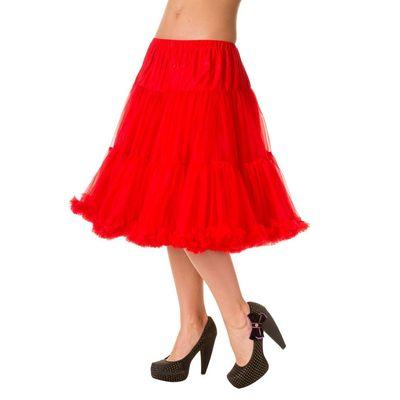 Foto van Petticoat Lifeforms Kuitlang met extra volume, rood