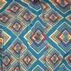 Afbeelding van Chenaski   korte mouw 70's jurk, Rhombus turquoise
