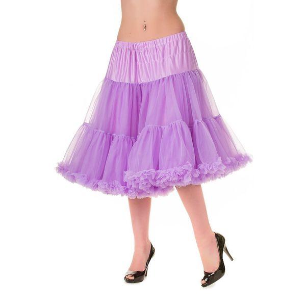 Petticoat Starlite over de knie met extra volume, lavendel