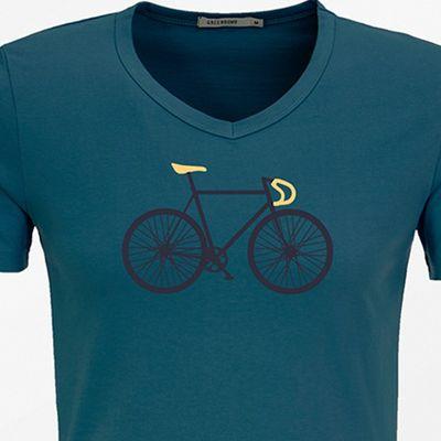 Foto van Green Bomb | T-shirt, Bike two peak, bio katoen corsair blue