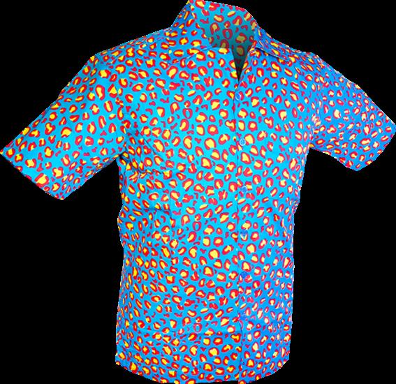 Chenaski   Overhemd korte mouw, Coloured leo