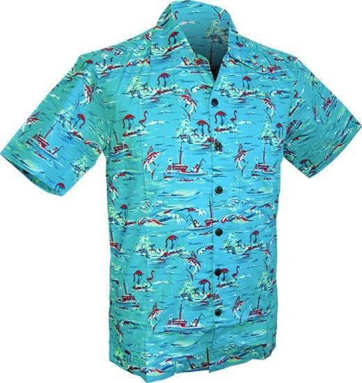 Chenaski   Overhemd korte mouw, Ocean view, turquoise