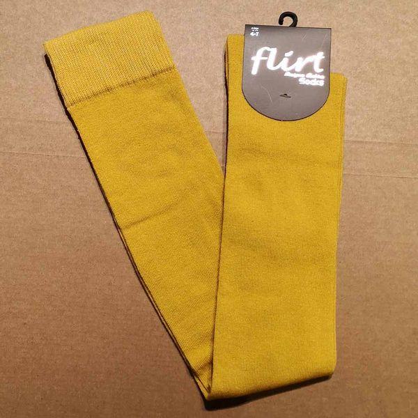 Flirt | Overknee sokken mosterd geel