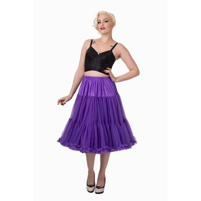 Foto van Petticoat Starlite over de knie met extra volume, paars