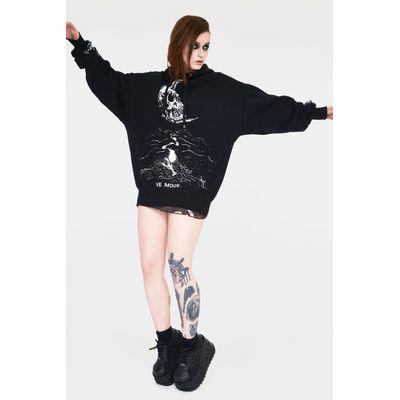 Foto van Jawbreaker | Oversized Hoody Skull Moon zwart