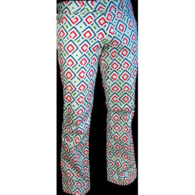 Chenaski | pantalon met squares mint petrol