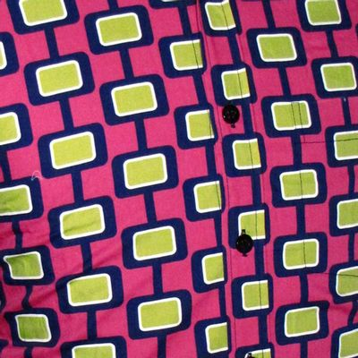 Foto van Chenaski | Geel roze seventies overhemd Screens