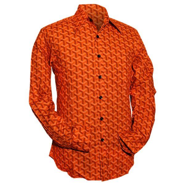 Chenaski | Oranje seventies overhemd Bridges