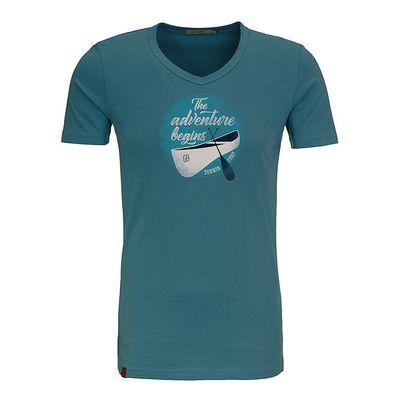 Green Bomb | T-shirt Nature adventure peak, bio katoen storm blauw