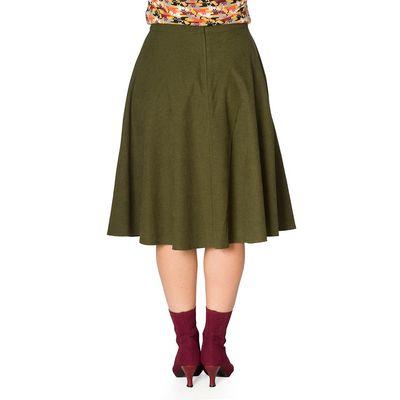 Foto van Banned, rok Sophicated, groen swingmodel