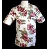 Afbeelding van Chenaski   Overhemd korte mouw jungle flowers creme
