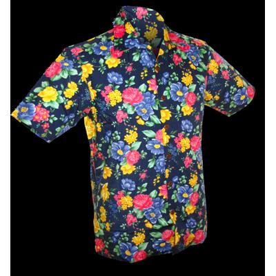 Chenaski | Overhemd korte mouw, super bright flowers