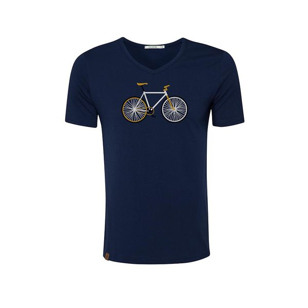 Green Bomb   T-shirt navy Bike Easy, bio katoen