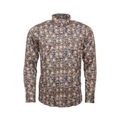 Foto van Overhemd met lange mouw, herfstbloemen print