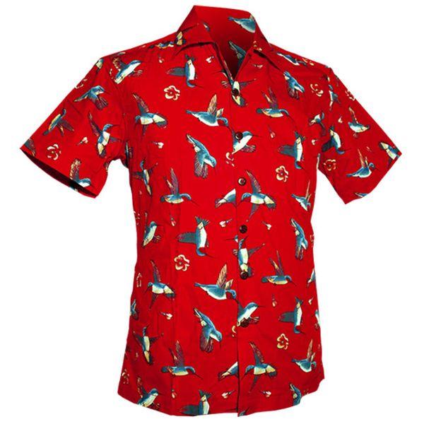 Chenaski | Overhemd korte mouw, Colibri rood