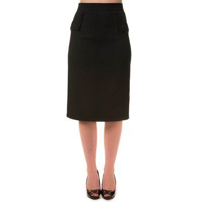 Foto van Banned | Pencil rok Tori zwart met knopen en split