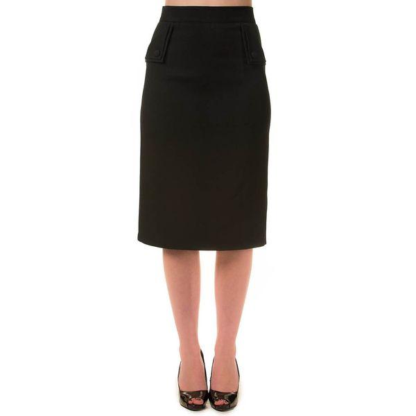 Banned | Pencil rok Tori zwart met knopen en split