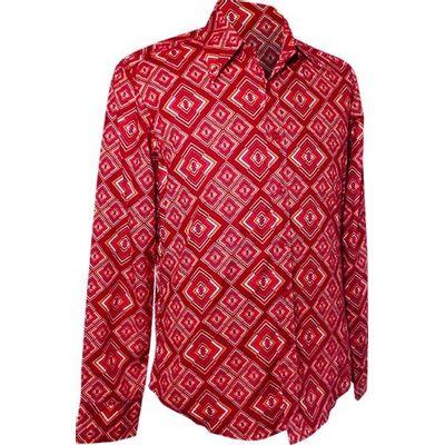 Foto van Chenaski | overhemd seventies, Rhombus rust