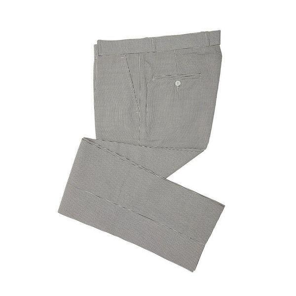 Pantalon Dogtooth, zwart wit check