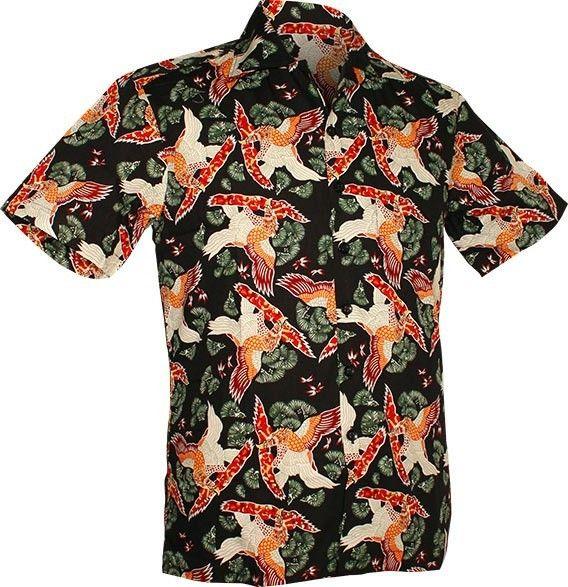 Chenaski   Overhemd korte mouw, Amber eagle, black