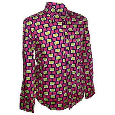 Chenaski | Geel roze seventies overhemd Screens