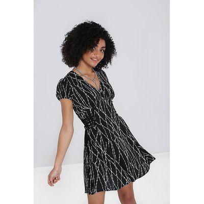 Foto van Hell Bunny   Mini jurk Barbed Wire zwart
