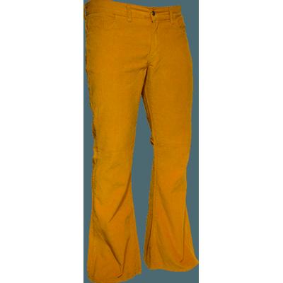 Foto van Ribcord retro broek mosterd geel, wijde pijp normale lengte