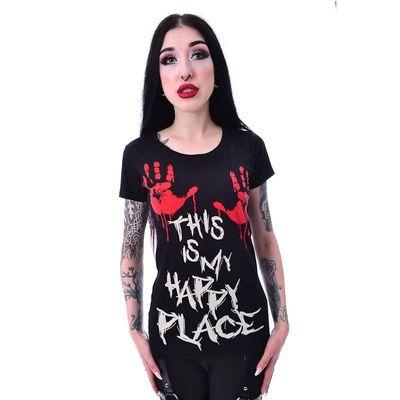 Foto van T-shirt This Is My Happy Place, zwart