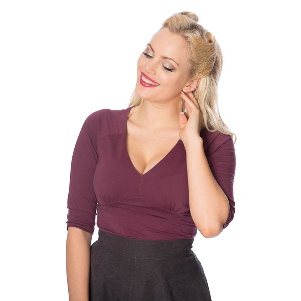 Banned | Top jersey Cute & Classic bordeaux