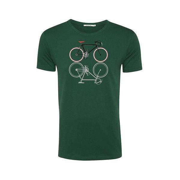Green Bomb   T-shirt Bike Shape, bottle green bio katoen