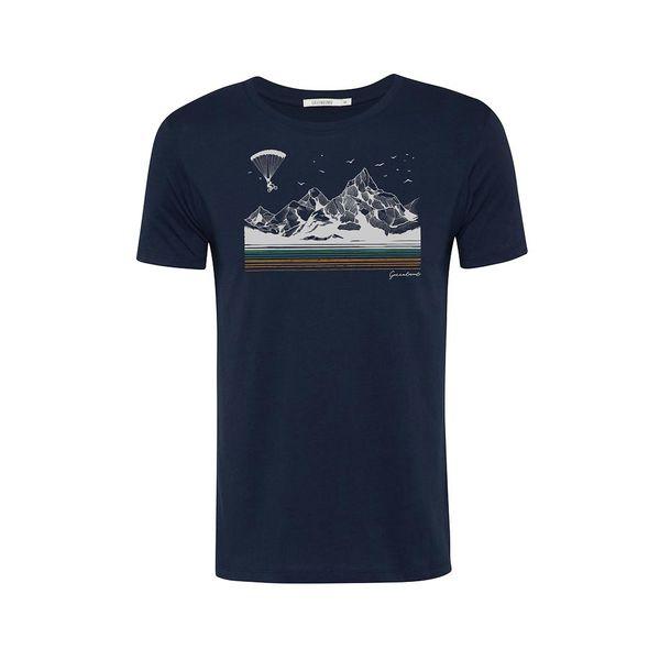 Green Bomb | T-shirt navy blauw Bike fly, bio katoen