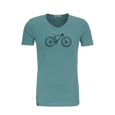 Green Bomb   T-shirt lichtblauw Bike Cross bio katoen