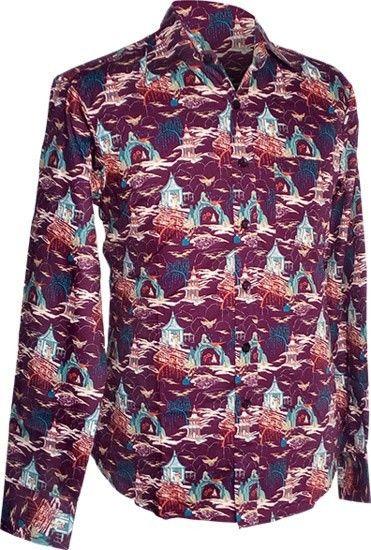 Chenaski | overhemd seventies, Cave Temple aubergine