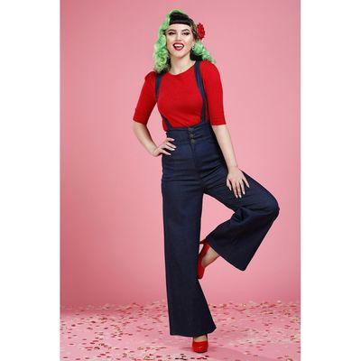 Foto van Collectif | Jeans Freya met hoge taille en bretels