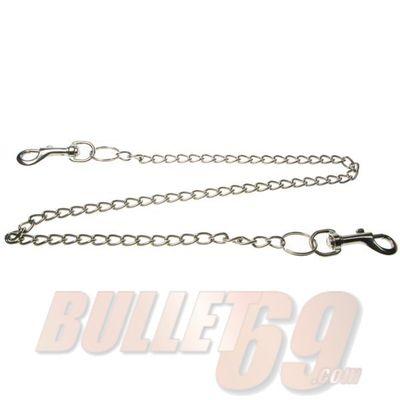Foto van Bullet69 | Sleutelhanger met zilverkleurige ketting van 78cm